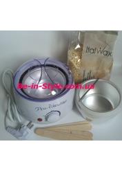 Набор для депиляции деликатных зон с  воском Italwax,белый шоколад